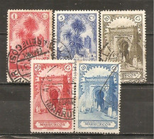Marruecos Español - Edifil 105, 107, 110-11, 113 - Yvert 133, 135, 138-39, 141 (usado) (o) - Marruecos Español