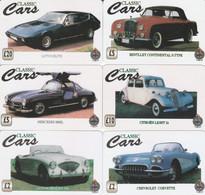 6 PREPAID PHONE CARD CARS (PV1156 - Cars