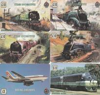 6 PREPAID PHONE CARD CARS TRAIN-AIRPLANE (PV1157 - Trenes