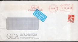 Danmark - 1990 - Lettre - Cachet Spécial - Affranchissement Mécanique - GEA - A1RR2 - Cartas