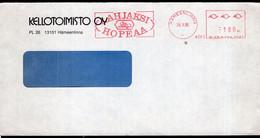 Finland - 1988 - Lettre - Cachet Spécial - Affranchissement Mécanique - Kellotoimisto OY- A1RR2 - Cartas