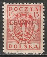 Poland 1919 Sc 2K4  Offices Turkey MLH* - Levant (Turkey)