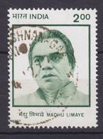 India 1997 Mi. 1548    2.00 (R) Madhu Limaye, Politiker - Used Stamps