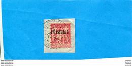 LEVANT-FRANCE- Sur Fragment TYPE SAGE N°5 -**perforé**B I O **cad Constantinople 1902 - Oblitérés