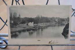 England -York - On The River Ouse - Valentine's Series - Circulé 5-6-1902 - + Timbre Taxe - York