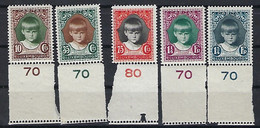 Luxembourg - Luxemburg . Timbres , 1929 Aide à L'Enfance  Caritas  Série  MNH**  VC.30,- - Blocks & Sheetlets & Panes
