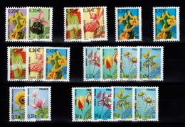 Preobliteres - YV 244 à 262 N** Toutes Les Fleurs Cote 58,50 Euros - 1989-....