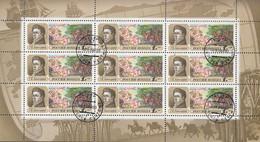 RUSSLAND 250, Kleinbogen, Gestempelt, Forschungsreisen, 1992 - Blocs & Hojas