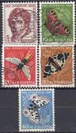 SCHWEIZ  618-622, Gestempelt, Pro Juventute: Insekten, 1955 - Usados