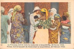 """11263"""" REINE ASTRID-TROISIÈME SÉRIE-N° 12-LA PRINCESSE ASTRID VISITE LA MATERNITE' A LEOPOLDVILLE-20 FÉVRIER 1933....."""" - Côte D'Or"""