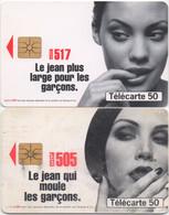 Lot De 2 Télécartes Levi's 517 Et 505 : Le Jean Plus Large Pour Les Garçons. 1996 - Moda