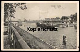ALTE POSTKARTE RENDSBURG KAISER WILHELM KANAL SCHIFF Ship Cpa Postcard AK Ansichtskarte - Rendsburg