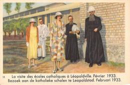 """11266"""" REINE ASTRID-TROISIÈME SÉRIE-N° 11-LA VISITE DES ÉCOLES CATHOLIQUES À LÉOPOLDVILLE-FÉVRIER 1933 """" - Côte D'Or"""