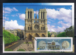 Atm, BROTHER, Carte MAXIMUM, DD 0.97 , NOTRE DAME DE PARIS. - 2010-... Geïllustreerde Frankeervignetten