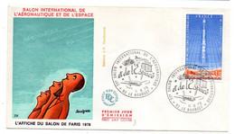 1979--FDC--Salon Int. Aéronautique   ( Affiche Signée  Savignac ) --cachet  LE BOURGET - 93 - 1970-1979
