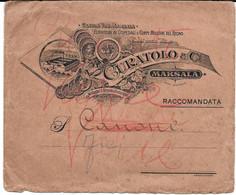 Enveloppe Publicitaire Curatolo & Cie / Marsala (Sicile). - Werbung