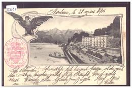 LE BOUVERET - GRAND HOTEL DE L'AIGLON - B ( LEGER PLI HORIZONTAL AU MILIEU ) - VS Valais