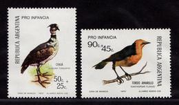 Argentinien Argentina Mi. 1142-1143 Vögel Birds Wildlife 1973 ** MNH   (9021 - Otros