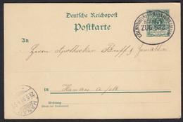 DR Deutsches Reich Ganzsache Bahnpost 1899 Cöln-Frankfurt Nach Hanau - Non Classificati