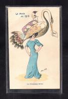 (16/02/21) ILLUSTRATEURS SIGNES-CPA XAVIER SAGER - LA MODE EN 1910 - LE CHAPEAU GRUE - Sager, Xavier