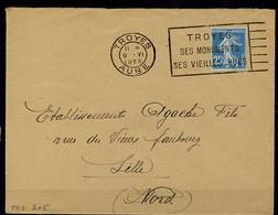 Lil3B07 TROYES AUBE FLIER TRO205 Troyes Ses Monuments Ses Vieilles Rues /L 09/06/25 - Mechanische Stempels (reclame)