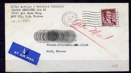 Lil3K07 USA YvT 639 / Lettre Army & Air Force Postal Service Pour France 28 06 1961 - Cartas