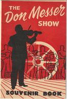 """The Don Messer Show Souvenir Book  """"Don Messer And His Islanders"""" - Programas"""