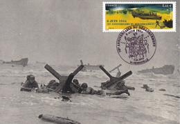 Carte Maximun 70eme Anniversaire Débarquement En Normandie D-DAY 1944 WWII - American Army Engineers In OMAHA Section - 2. Weltkrieg