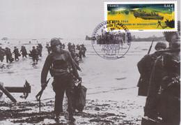 Carte Maximun 70eme Anniversaire Débarquement En Normandie D-DAY 1944 WWII - Utah Beach - 2. Weltkrieg