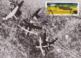 Carte Maximun 70eme Anniversaire Débarquement En Normandie D-DAY 1944 WWII - Palneurs Gliders On The Ground - 2. Weltkrieg