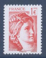 N° 5179 Sabine Rouge Issue Du Bloc 40 Ans De La Sabine De Gandon Faciale 1 Euro - Unused Stamps