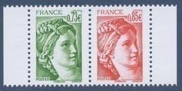 N° 5183 Et 5184 Issu Du Carnet 40 Ans Sabine De Gandon Bloc De 2,  Valeur Faciale 0,73 Et 0,85 € - Unused Stamps