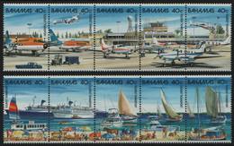 Bahamas 1987 - Mi-Nr. 653-662 ** - MNH - Schiffe & Flugzeuge / Ships & Airplanes - Bahamas (1973-...)