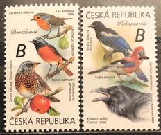 Czech Republic, 2020, Mi: 1074/75 (MNH) - Songbirds & Tree Dwellers