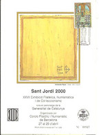 TARJETA 20X15  MATASELLOS SANT JORDI  2000 - 1991-00 Cartas