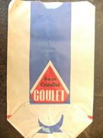 Année 60 4 Sachets Papier Alimentaire  (sucre) GOULET TURPIN  Reims - Advertising