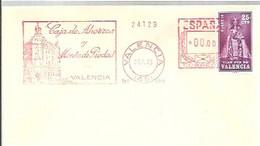 FRANQUEO MECANICO 1973   VALENCIA - Marcophilie - EMA (Empreintes Machines)