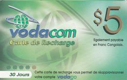 Congo (Kinshasa)- Vodacom Carte De Recharge - 30 Jours (31/10/2007) - Congo