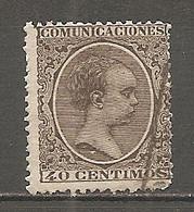 ESP 1889- Yv. N° 206    (o)   40c Brun  Aphonse XIII Cote  2,5 Euro BE - Oblitérés