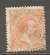 ESP 1889- Yv. N° 208    (o)   75c Orange  Aphonse XIII Cote  4,5 Euro BE  2 Scans - Oblitérés
