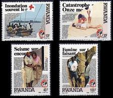 1338/1341** - 125e Anniversaire De La Croix-Rouge / 125e Verjaardag Van Het Rode Kruis - RWANDA - 1980-89: Neufs