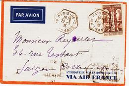 France , De Paris 96 C Air France  Pour Saigon Sur Tp Saint Trophime à 3,5 F  TB - Posta Aerea