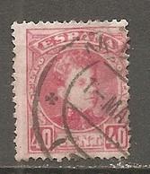 ESP 1889- Yv. N° 221   (o)  40c  Rose   Aphonse XIII Cote  4 Euro D  2 Scans - Oblitérés