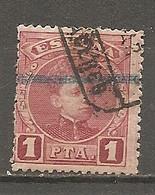 ESP 1889- Yv. N° 223   (o)  1p  Carmin   Aphonse XIII Cote  0,5 Euro BE - Oblitérés
