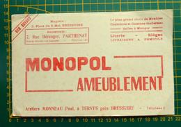 Buvard MONOPOL AMEUBLEMENT - Ateliers Paul Monneau à Terves - Magasins à Bressuire Et à Parthenay - Non Classés