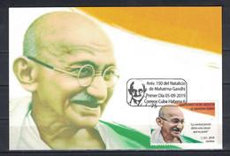 150th Anniversary Of Birth Of Mahatma Gandhi - Maximumkaarten