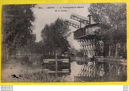 CPA - IMPHY - Le Transporteur Aérien Et Le Canal - Barge «Établissements FAVRE FRÈRES A LYON» - Otros Municipios