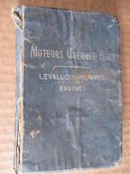 NOTICE - MOTEURS CLERGET BLIN & CIE - LEVALLOIS PERRET -  MOTEUR ROTATIF TYPE 9 B  130 HP - Manuali