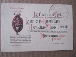 Non CPA - MIRECOURT - LUTHERIE D'ART - LABERTE HUMBERT & FOURIER MAGNIE - CARTE REPRESENTANT - Mirecourt