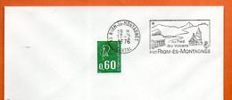 63 RIOM ES MONTAGNES   AU PIED DES VOLCANS  1976 Lettre Entière N° FG 799 - Sellados Mecánicos (Publicitario)
